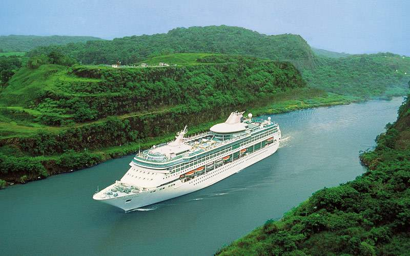 Legend of the Seas cruises through Panama Canal