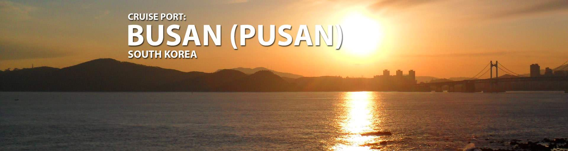 Cruises from Pusan, South Korea