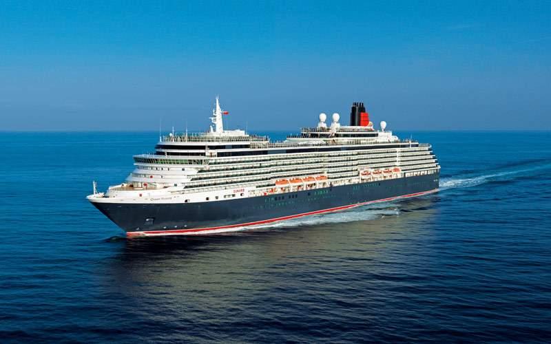 Queen Victoria cruising the open ocean