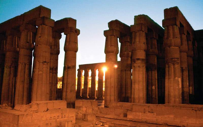 Temple of Luxor in Egypt