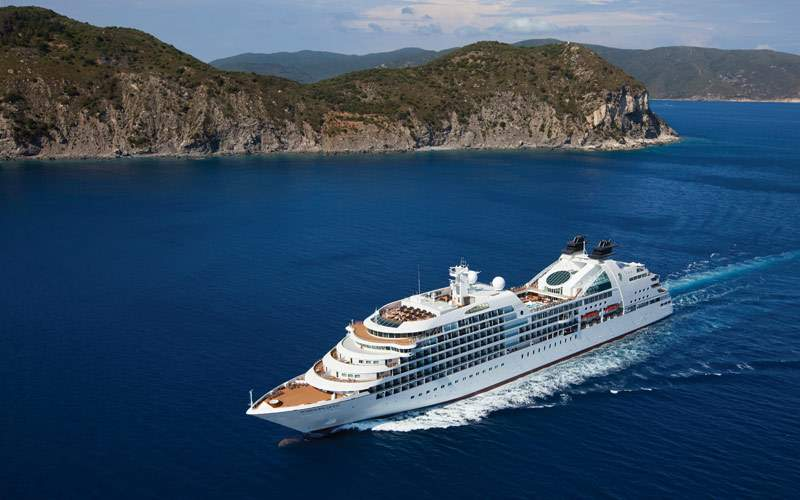 Seabourn Quest in the open ocean