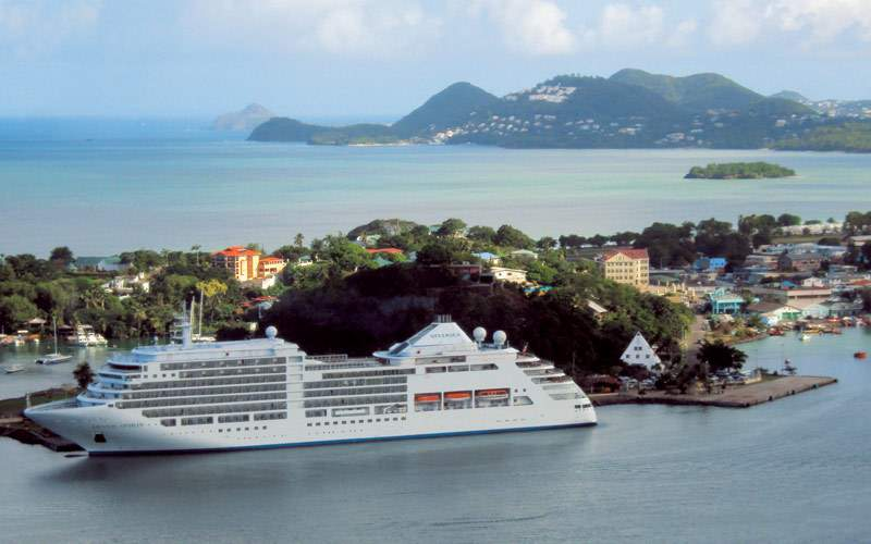 Silversea Cruises in St. Lucia