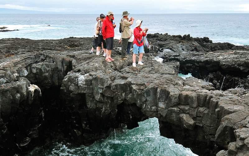 Santiago coastline in the Galapagos