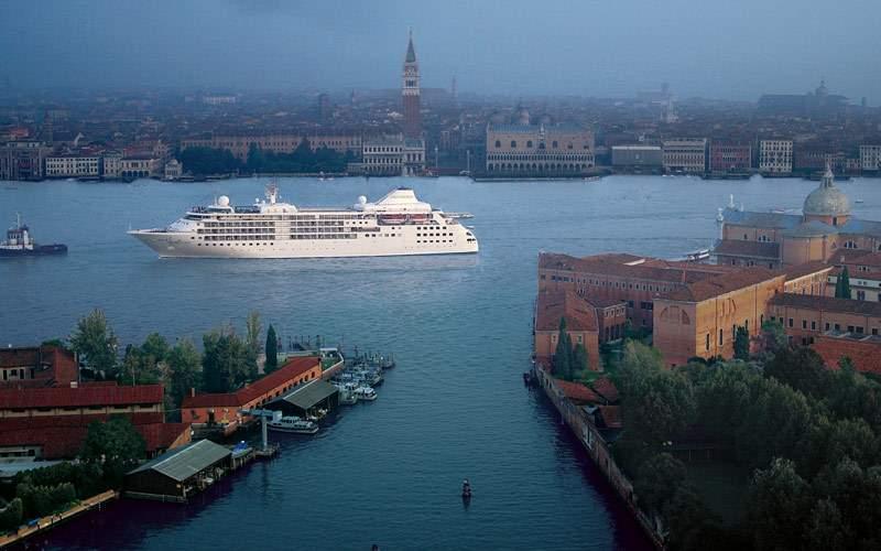 Cruising into Venice, Italy