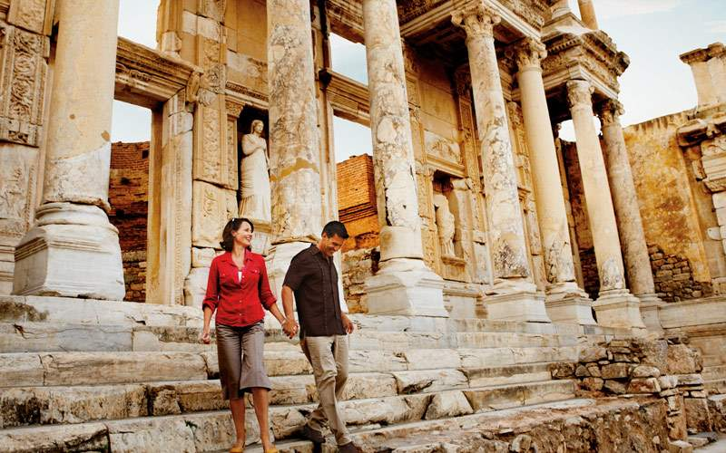 Touring the Ephesus Ruins in Turkey