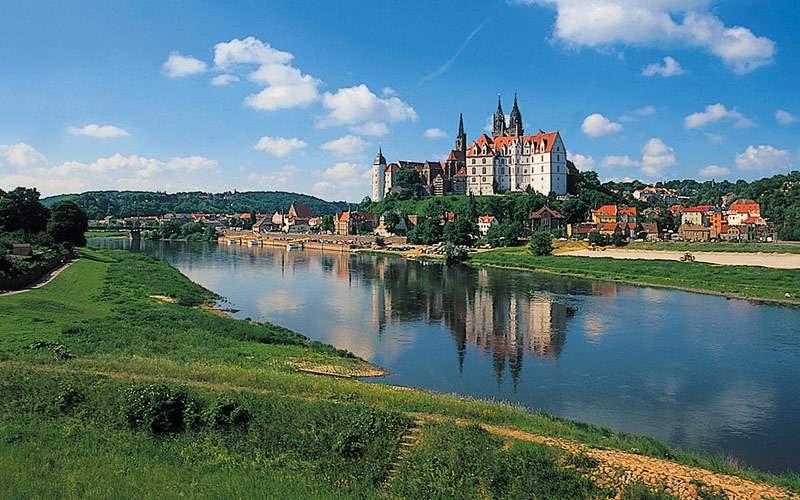 Elbe River in Meissen, Germany