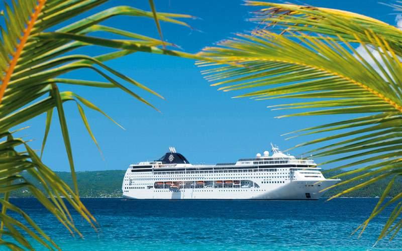 MSC Lirica in the Caribbean