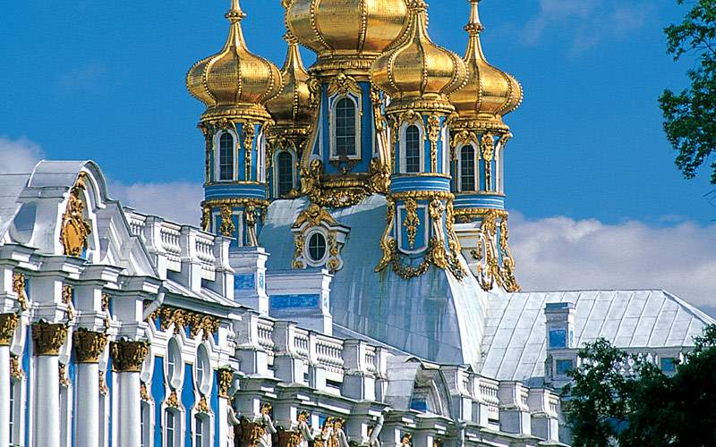 Catherine Palace in St. Petersburg Russia