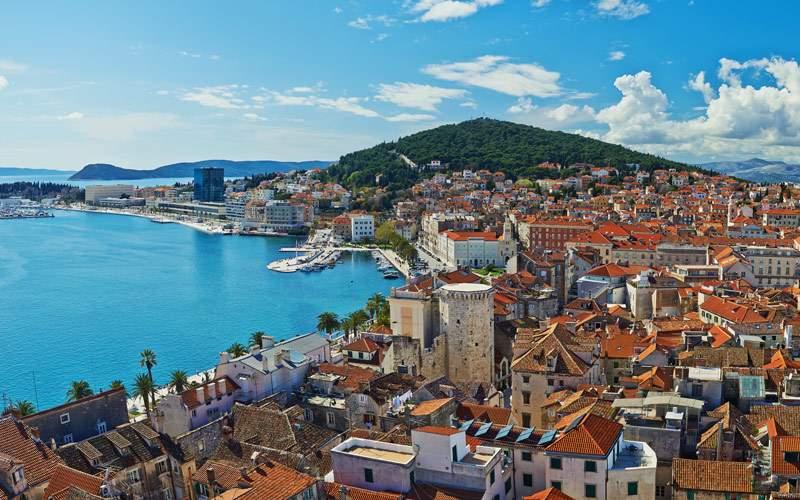 The coastline of Croatia