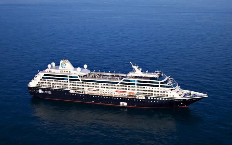 Azamara cruise ship at sea