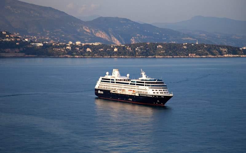 Azamara cruise ship in the open ocean
