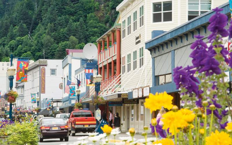 The colorful streets of Juneau, Alaska