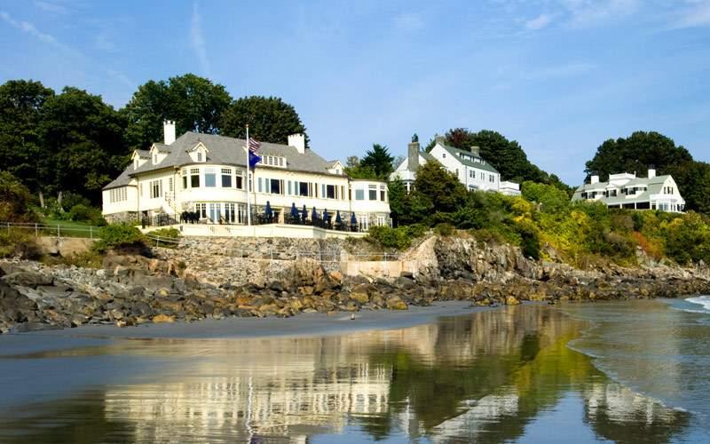 Big white house off the coast of Maine