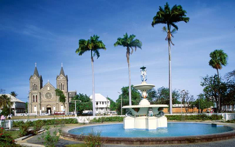 Fountain in Independence Square in St. Kitts