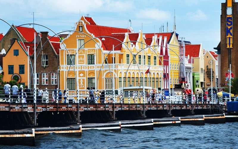Colorful buildings light up Curaçao