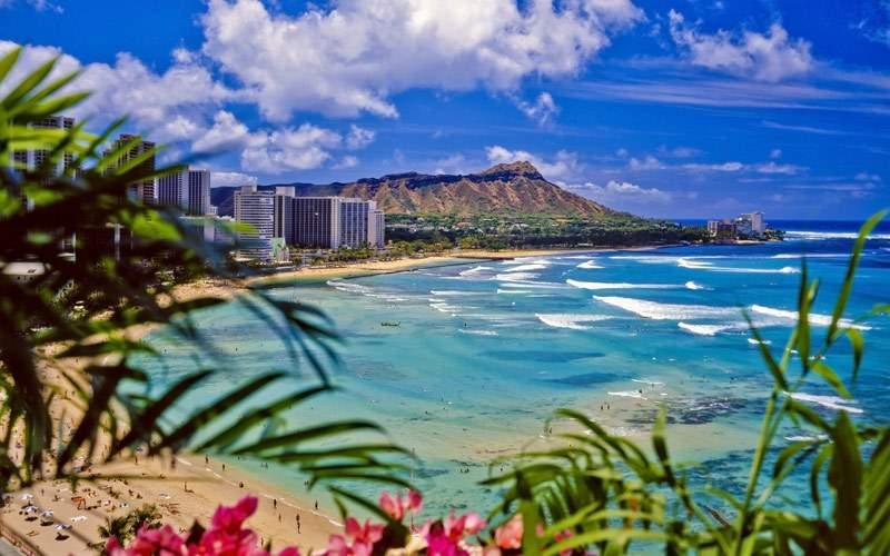 Diamond Head, a volcanic tuff cone in Honolulu