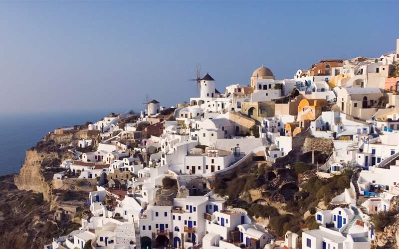 Landscape of Santorini, Greece
