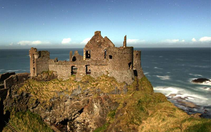 Dunluce Castle on the coast of Belfast
