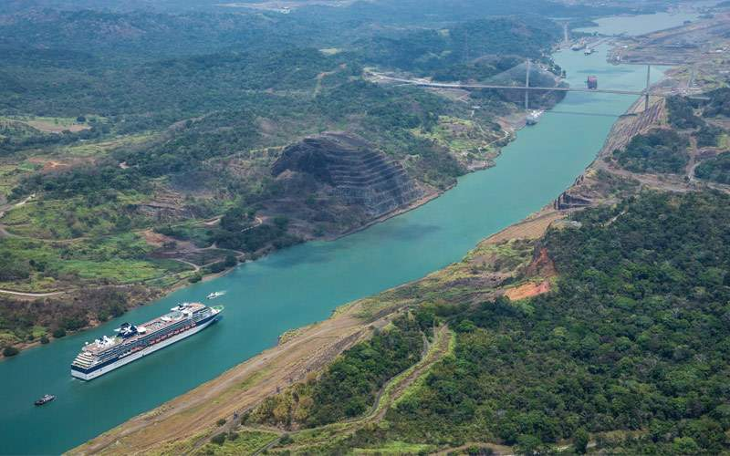 Celebrity Infinity cruises through Panama Canal