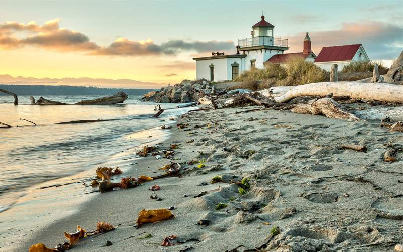 West Point Lighthouse in Seattle, Washington