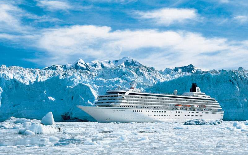 Cruising through the magnificent glaciers
