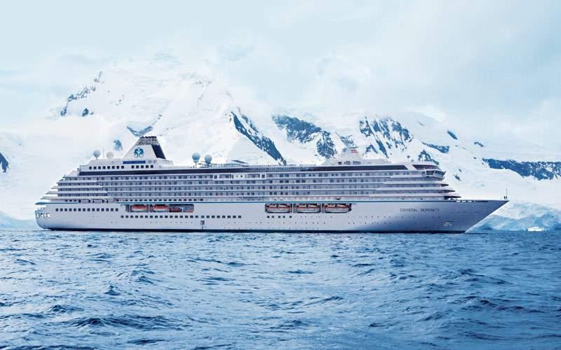 Cruising past some glaciers in Antarctica