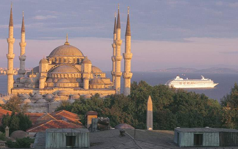 Crystal Symphony cruises through Istanbul, Turkey