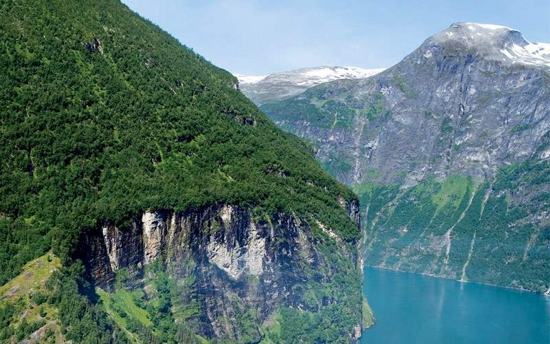Geiranger fjord in Northern Europe