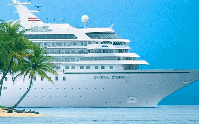Crystal Symphony on its world cruise