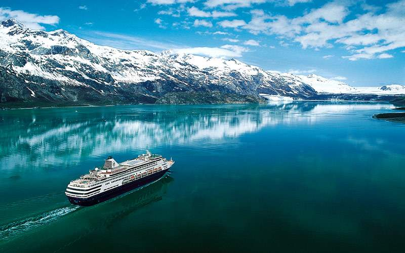 Holland America sails along Alaskan glaciers