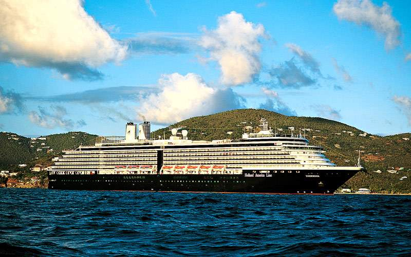 Holland America sails along Caribbean coastline