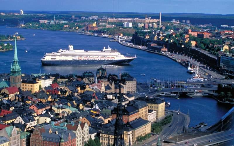 Holland America ship cruises into Northern Europe