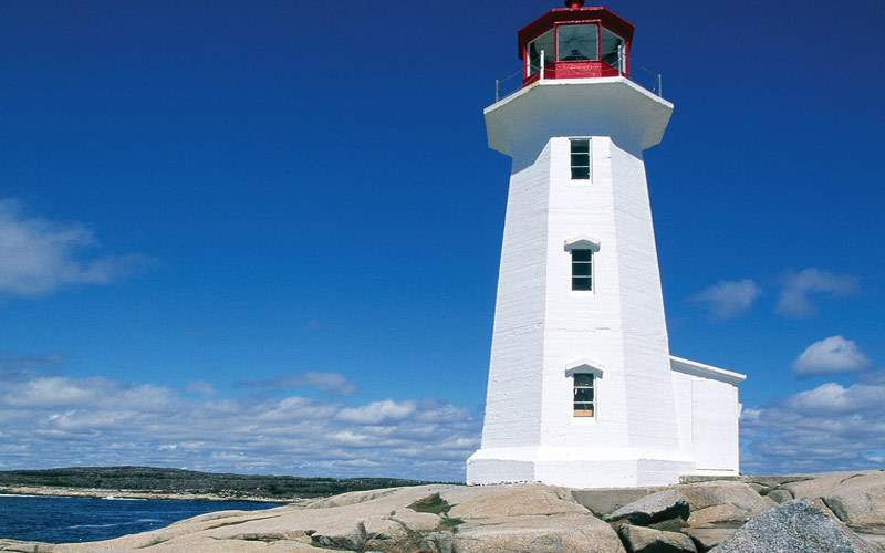 Lighthouse on the coast of Nova Scotia