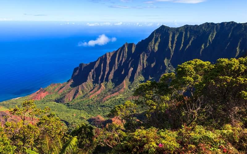 Na Pali Coast in Kauai Island