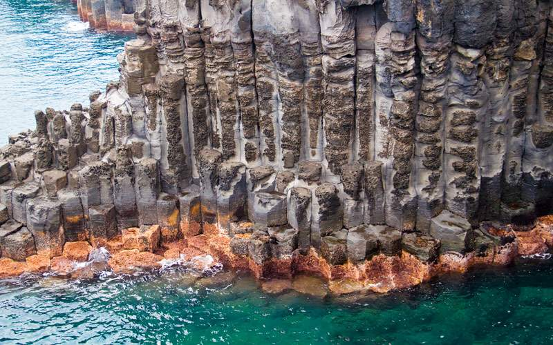 Jungmun Daepo Coast with Columnar Joints at Jeju