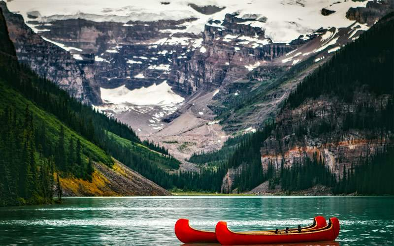 Scenic Lake Louise in Alberta, Canada