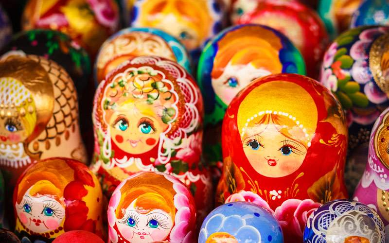 Matrioshka Nesting dolls souvenirs from Russia