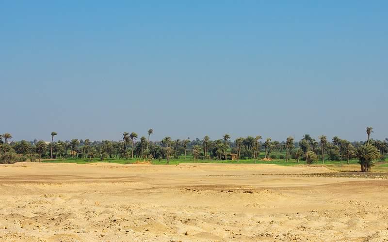 African oasis in desert Sakkara MSC Cruises