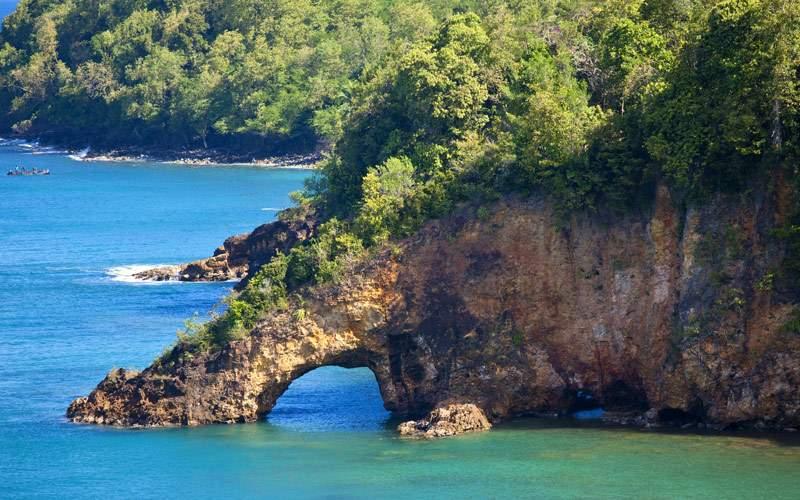 land bridge over ocean, st lucia MSC Cruises