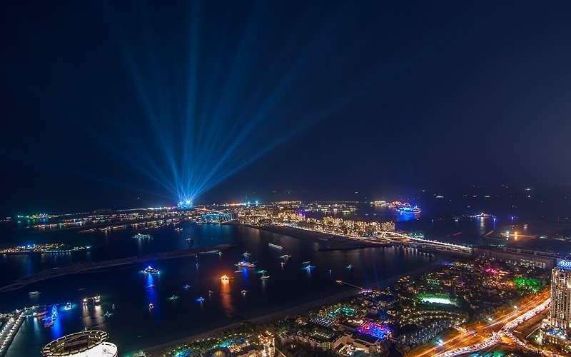 Palm Jumeirah on New Years Eve MSC Cruises Asia