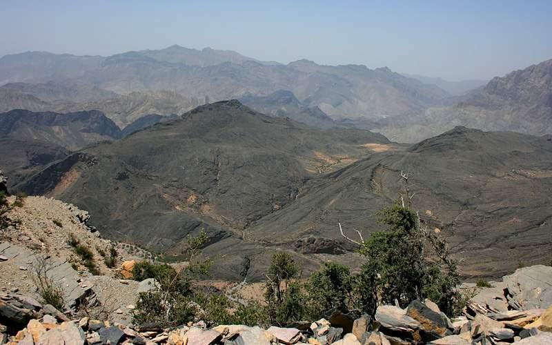 mountains outside Khasab, Oman MSC Cruises Asia