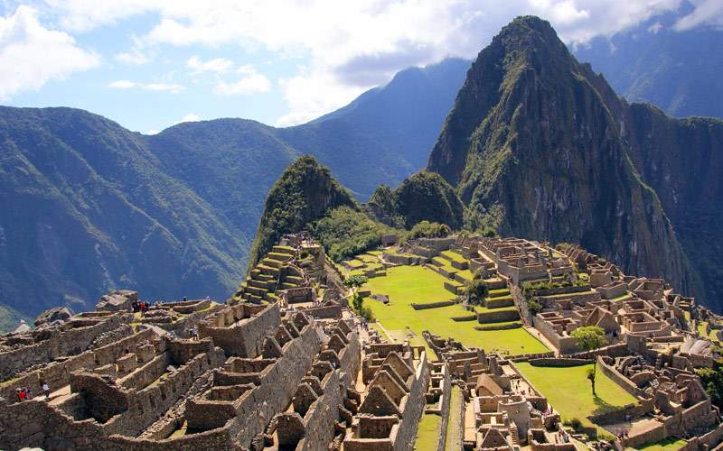 Mysterious city Machu Picchu Peru