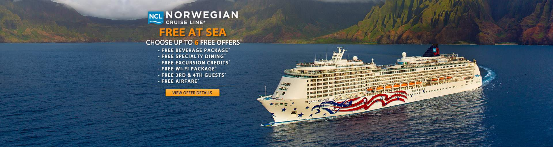 Norwegian Cruise Line: up to 6 Free Perks