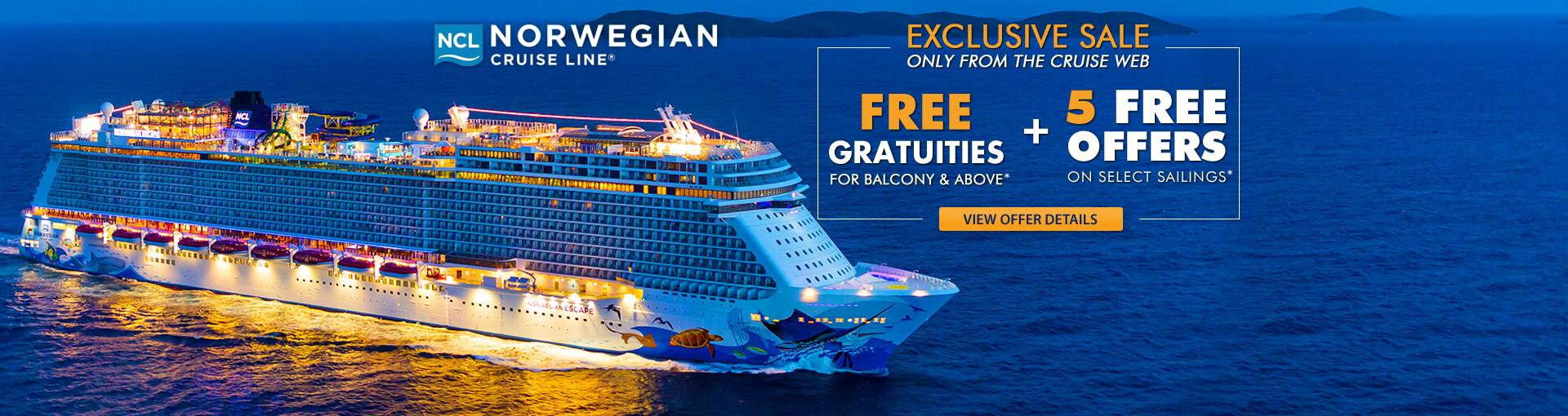 Norwegian Cruise Line: Free Grats + Take All Free