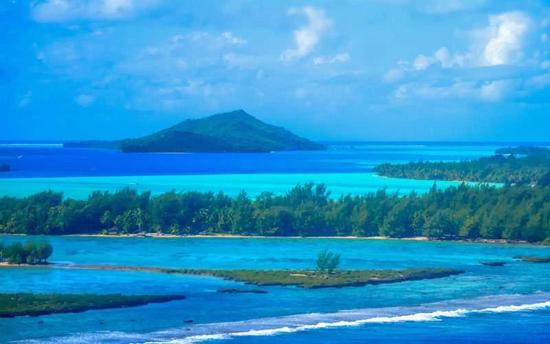 Bora Bora Aerial Photo