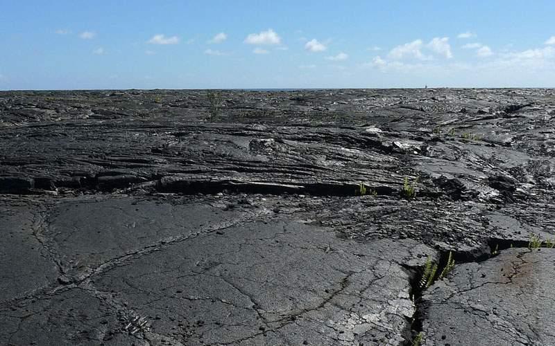 Striking lava field in Hawaii