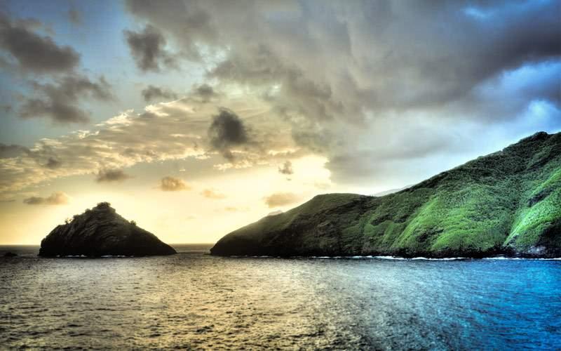 Nuva Hiva scenery for Norwegian Cruise Line