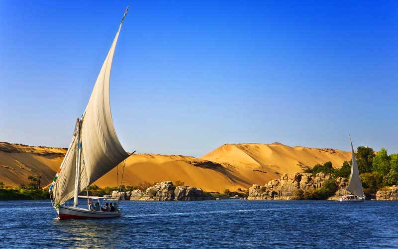 Nile River near Aswan, Egypt