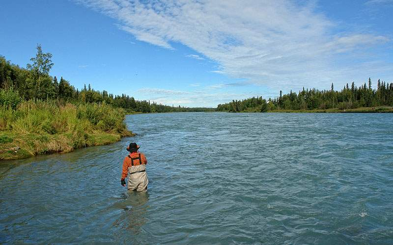 Scenic fishing in Alaska