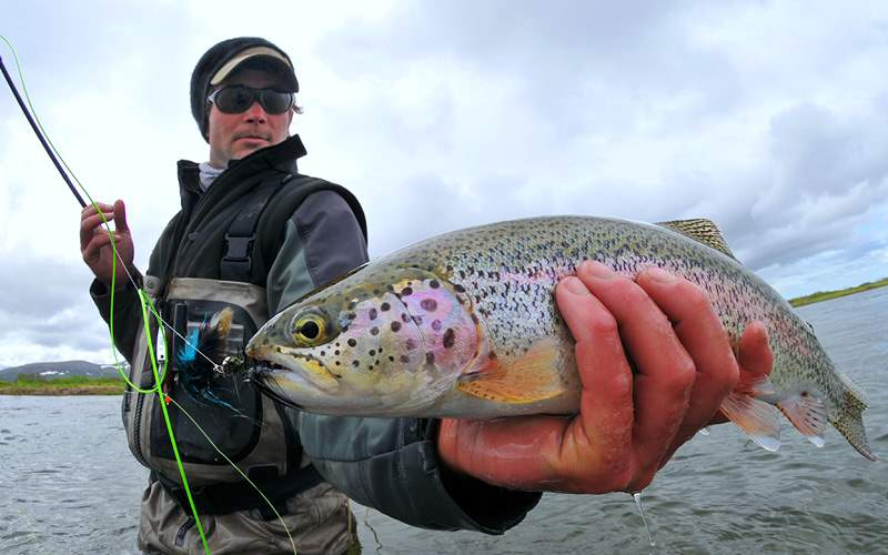 Norwegian Alaska Cruisetour Fly fishing for trout